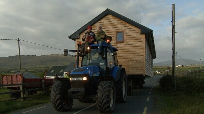 Breanndán Begley built a small house on a truck trailer in 2015 and moved it to the family farm