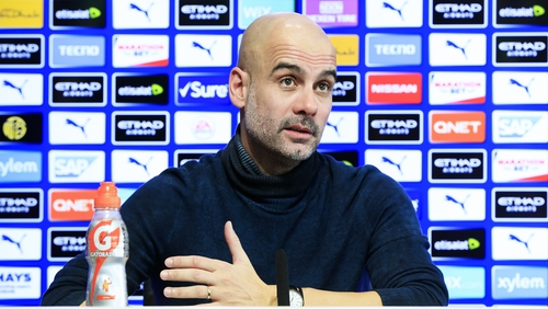 """Pep Guardiola: """"We cannot control; we support the club 100%, and what you have to do is play our games."""""""