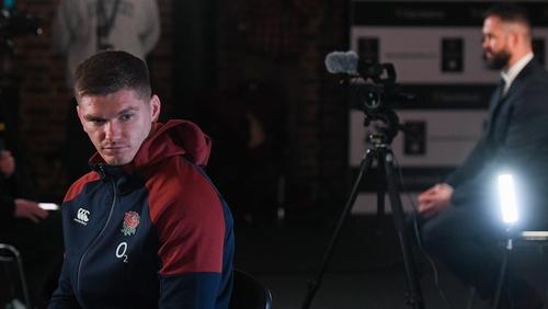 Owen Farrell (l) is the England captain