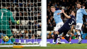 Kevin de Bruyne scores City's second goal of the night