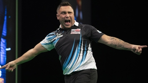 Gerwyn Price got off to a winning start but lost out to a rampant Luke Woodhouse