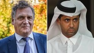 Jerome Valcke and Nasser Al-Khelaifi