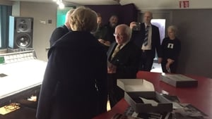 Michael D Higgins and his wife Sabina in a recording studio at Windmill Lane