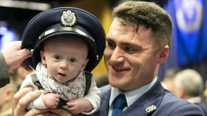 New Air Corps Officer Anton Dargan from Tipperary with his five-month-old son Tom (Photo: RollingNews.ie)