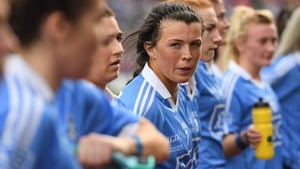 The Jacks are back - Leah Caffrey has returned to the Dublin squad for their 2020 campaign - pictured here ahead of the 2017 All-Ireland final win over Mayo