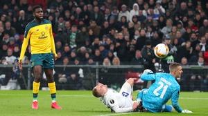 Odsonne Edouard dinks home the opener for Celtic