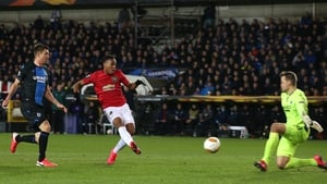 Anthony Martial beats former Liverpool netminder Simon Mignolet