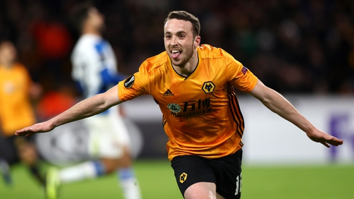 Dioga Jota bagged a hat-trick for Wolves