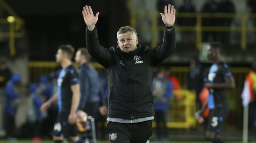 Ole Gunnar Solskjaer acknowledges United's travelling support