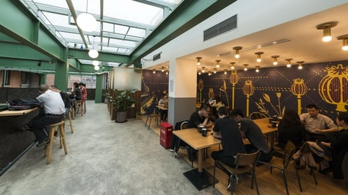 Flexible office space is increasingly being used by larger companies that are seeking to house additional workers for a set amount of time