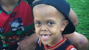 Quaden Bayles was left distraught after a bullying incident at his school (Pic: @NRL)