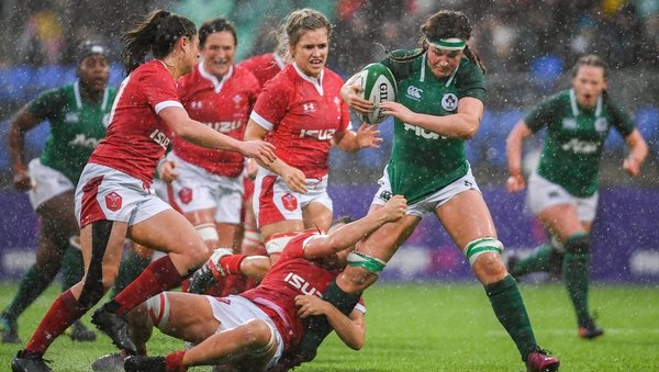 Anna Caplice in action against Wales