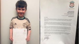 Daragh wrote to Jürgen Klopp as part of a school writing project