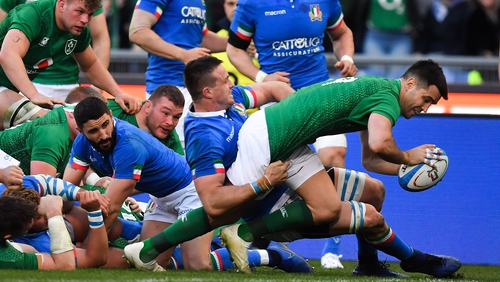 Murray's last try came against Italy last spring