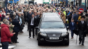 Harry Gregg was laid to rest in Coleraine