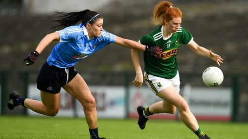 Louise Ní Mhuircheartaigh of Kerry in action against Olwen Carey of Dublin during last year's Championship quarter-final