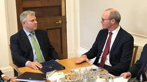 The meeting between Simon Coveney and Brandon Lewis took place at Stormont House