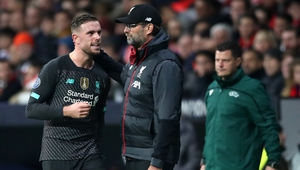 Jordan Henderson is set to be out for three weeks