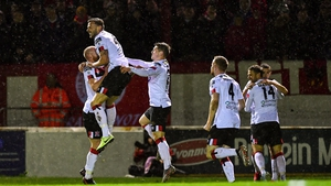 Andy Boyle celebrates his goal for Dundalk