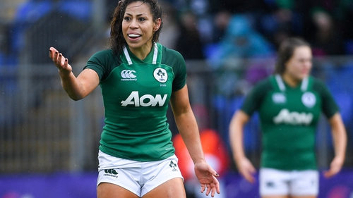 Sene Naoupu and her Irish team-mates are excited by the chance to take on England.