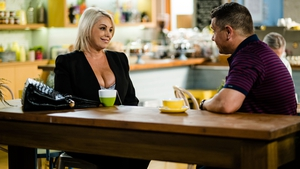 Mark and Lucy reunite on Neighbours