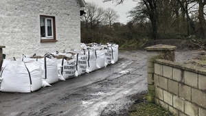 Sandbags have been distributed to homes near the affected area