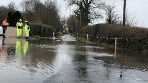 Flooding in Co Clare led to difficult driving conditions