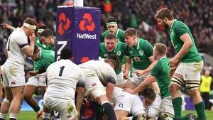 Ireland claimed the Grand Slam at RFU headquarters two years ago