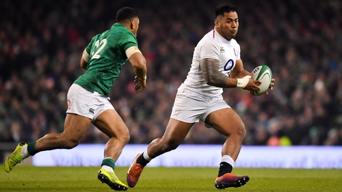 Manu Tuilagi in action against Ireland earlier this year