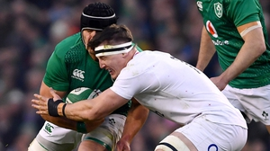 CJ Stander and Tom Curry collide in last year's encounter in Dublin