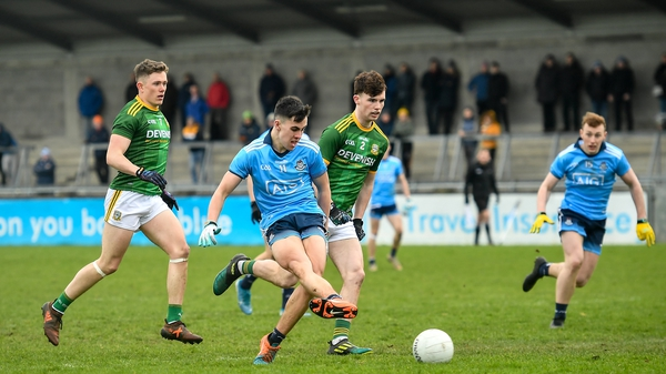 Lorcan O'Dell slots home Dublin's second goal
