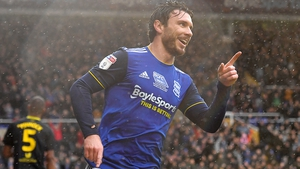 Scott Hogan rescued a point for Birmingham
