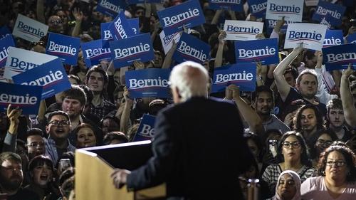 Bernie Sanders speaks after winning the Nevada caucuses