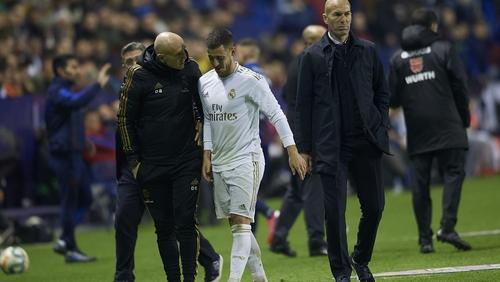 Eden Hazard was forced off against Levante
