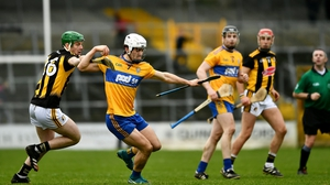 Aidan McCarthy of Clare is tackled by Eoin Cody of Kilkenny