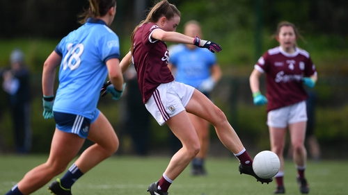 Ailbhe Davoren of Galway finds the net