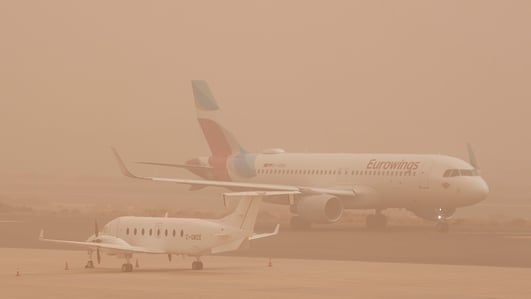 Irish flights cancelled due to Canary Island sandstorm