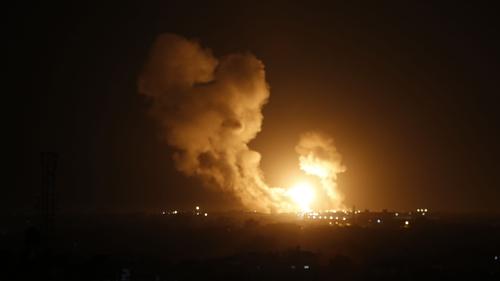 The Israeli military said it had struck dozens of Islamic Jihad targets throughout Gaza