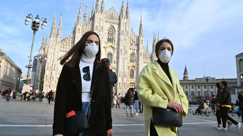 Milan shares marked their worst day since mid-2016, as Italy reported the biggest flare-up of the virus in Europe