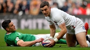 Eddie O'Sullivan highlighted back-field issues for Ireland as George Ford (r) made the most of a Johnny Sexton (l) error