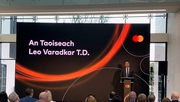 Leo Varadkar speaking at the announcement of 1,500 jobs at Mastercard