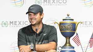 Patrick Reed smiles following his victory at the WGC-Mexico Championship