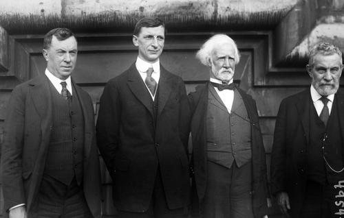 De Valera and FOIF members Daniel Cohalan, John Goff and James Devoy