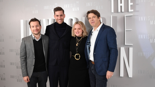 Leigh Whannell, Oliver Jackson-Cohen, Elisabeth Moss and Jason Blum at The Invisible Man premiere