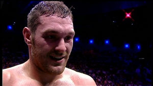 Tyson Fury in 2009 after his ninth professional fight