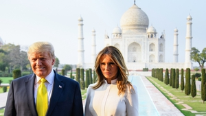 Donald Trump and his wife Melania visited the Taj Mahal during their official visit to India