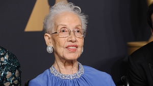 Katherine Johnson pictured at the Academy Awards in February 2017