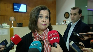Mary Lou McDonald rejected suggestions that Sinn Féin's meeting was about whipping up support
