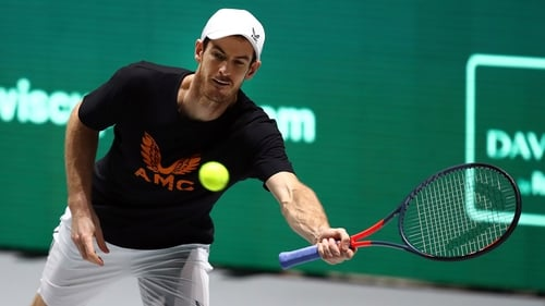 Andy Murray in action last November