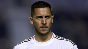 Hazard will miss both legs of Real Madrid's tie against Manchester City